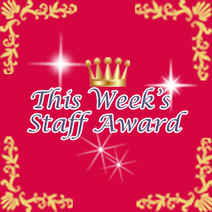 This Week's Staff Award feature page label